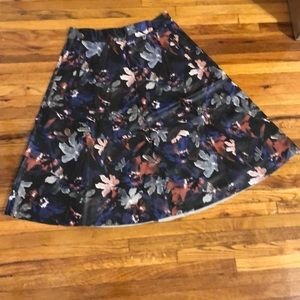 Zara leather skirts with floral details